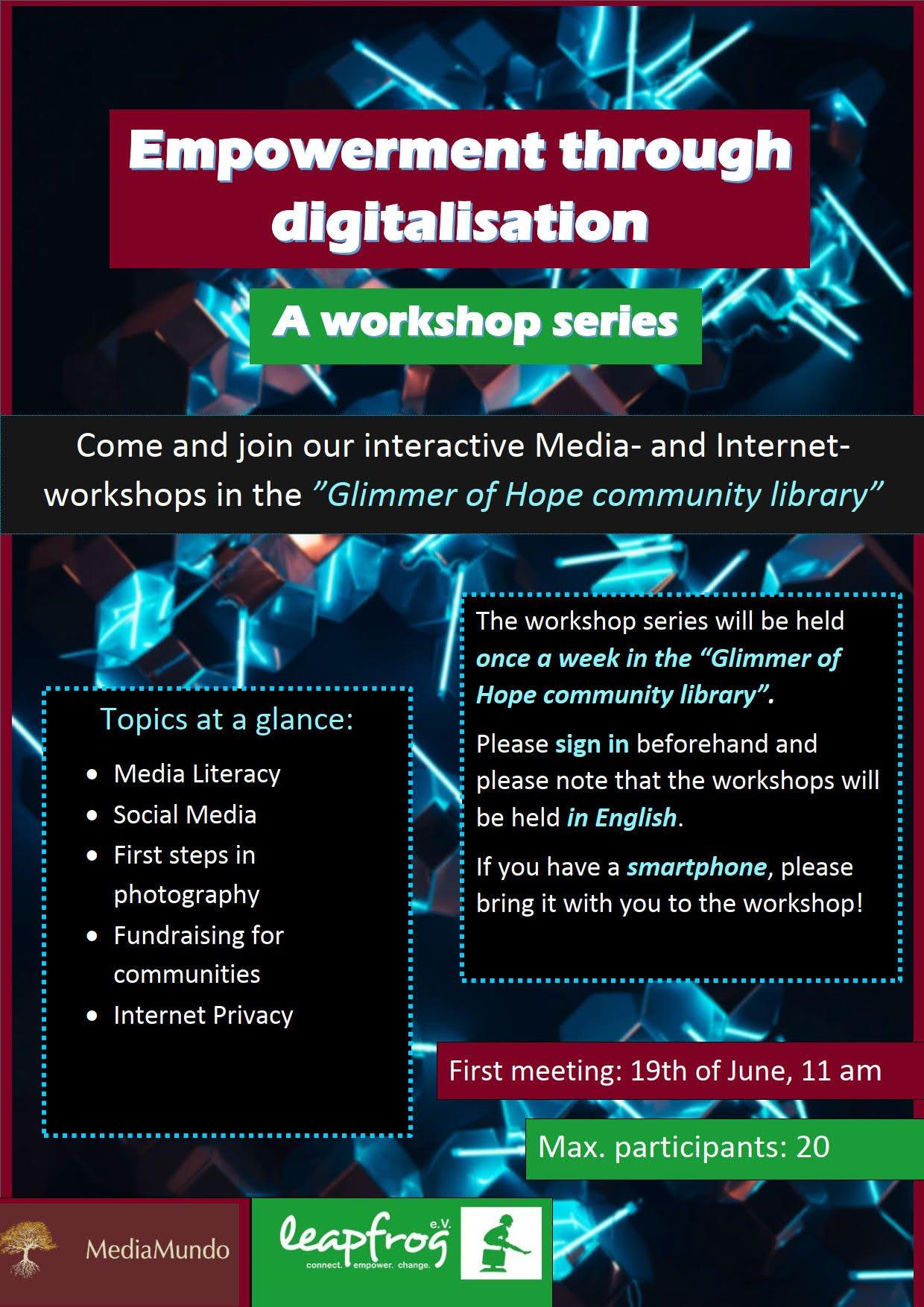 "Plakat ""Empowerment through digitalisation"""